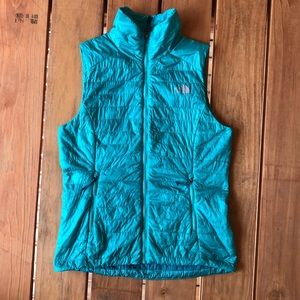 North Face FlashDry Puffer Vest, Teal, Small
